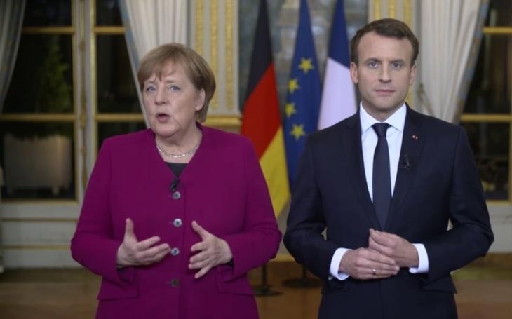 Macron s Merkelovou uctí památku obětí válek, budou jednat o EU