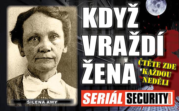 Šílená Amy ráda pečovala o staré a nemocné, ve svém ústavu. Policie nalezla 58 těl se stopami po otravě jedem