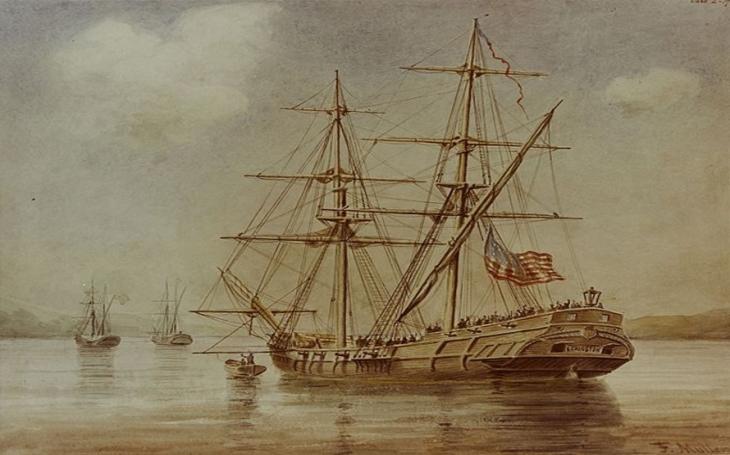 7. 4. 1776 poprvé zajala americká válečná loď britské plavidlo. Z kapitána se stal uznávaný hrdina