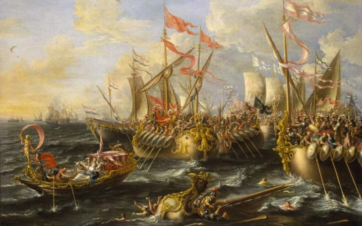 Bitva u Actia - 2. září roku 31 př. Kr. Kleopatra a Antonius prohráli boj o nadvládu na Římem