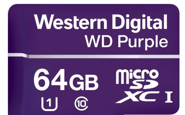 Western Digital uvádí novou microSD kartu speciálně vyvinutou pro spolehlivý záznam videa z dohledových kamer nové generace v nepřetržitém provozu