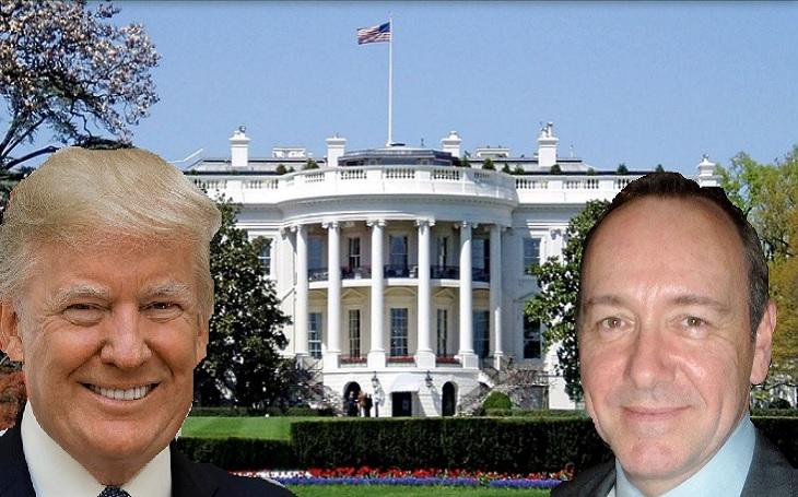 Trumpův nebo Spaceyho Dům z karet? Na americkou ruletu Putin nenaletěl ani Migem