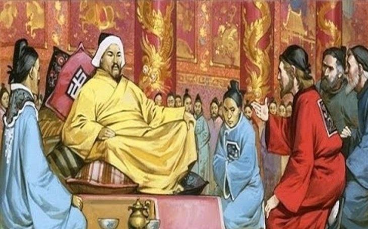 Mongolskému dobytí Japonska ve 13. století zabránilo podle pověsti kamikaze
