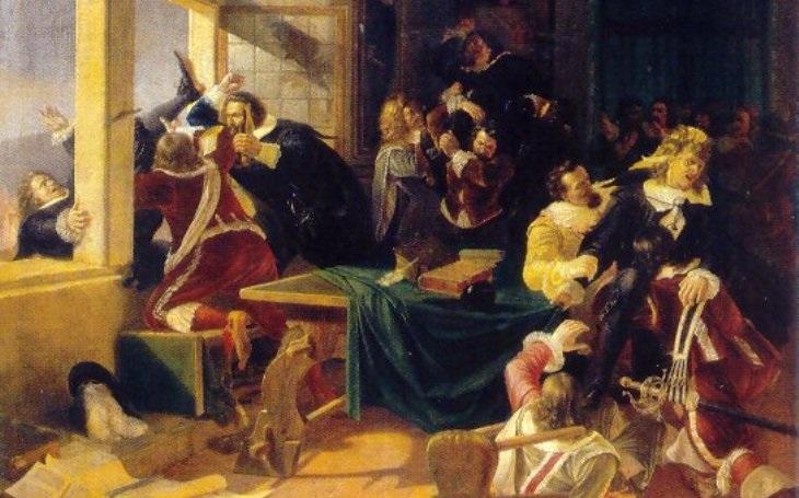 Roztříštěná hlava a trvalé následky. Před 400 lety se uskutečnila třetí pražská defenestrace