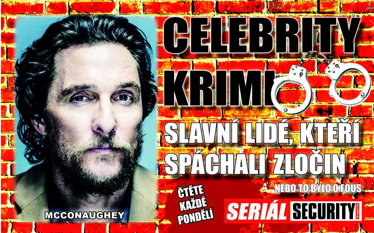 Matthew McConaughey: Zatkli ho, jak hraje nahý na bubínky. Držení drog, zněl policejní verdikt