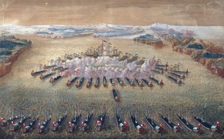 Bitva u Gangutu v roce 1714 znamenala první velké námořní vítězství ruského loďstva