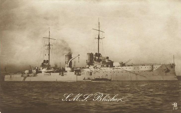 Omyl německého císařského námořnictva: Těžký, opravdu hodně těžký křižník SMS Blücher?