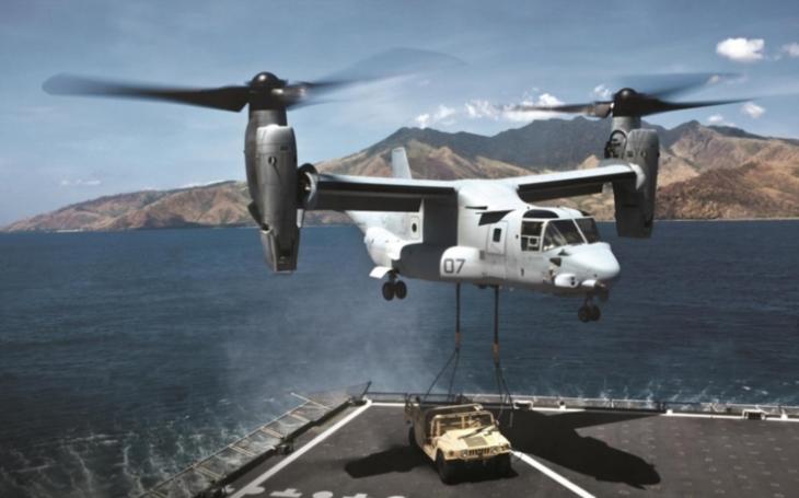 Společnost Bell zahájila výrobu konvertoplánů CMV-22B pro americké námořnictvo