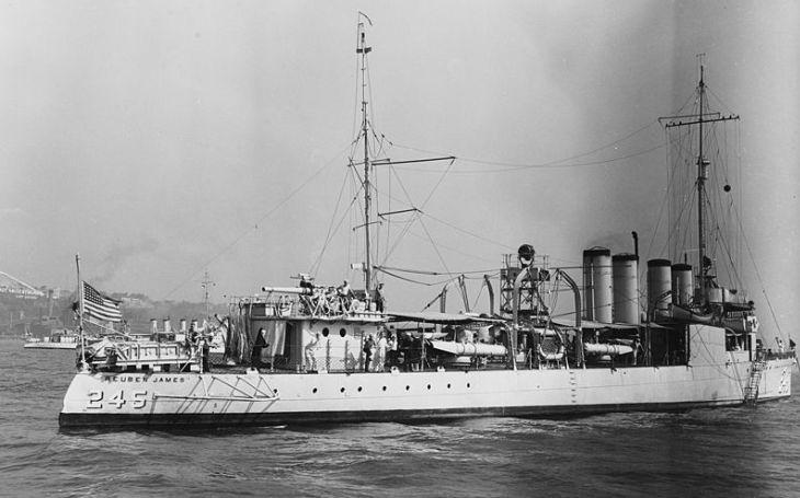 Torpédoborec USS Reuben James: První americká ,,oběť&quote; druhé světové války, na kterou si počíhal německý U-Boot