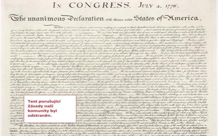 Promazaná deklarace nezávislosti