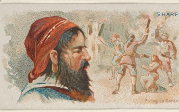 Nejhorší pirát v historii byl Bartholomew Sharp. Zemřel jako dlužník ve vězení