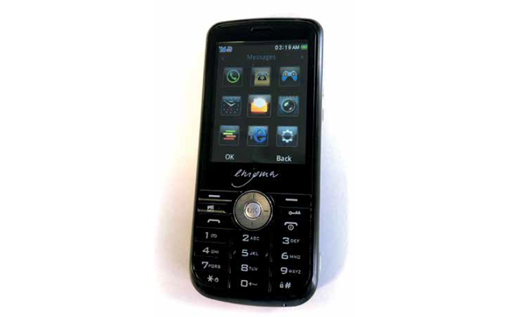 Test zabezpečeného mobilního telefonu Enigma E2