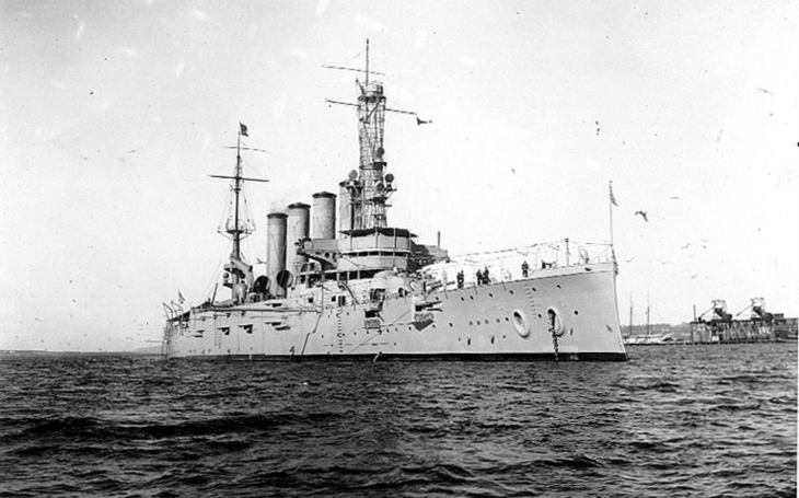 Najel křižník USS San Diego na minu, nebo jej potopil U-Boot? Po 100 letech ,,americká záhada&quote; stále trvá