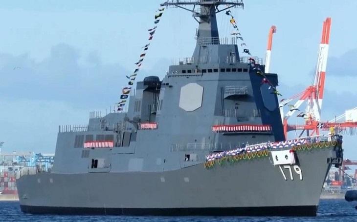 VIDEO: Japonsko spustilo na vodu nový torpédoborec třídy 27DDG s raketou SM-3
