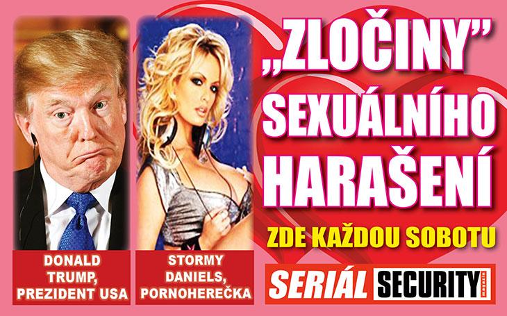 Pornoherečka Stormy Daniels: Trump se mi pochlubil svou fotkou v časopise a pak si sundal kalhoty. Co na to jeho žena?