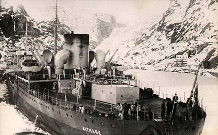 VIDEO: Incident Altmark - Britský hon na německý tanker Hitler tvrdě ztrestal