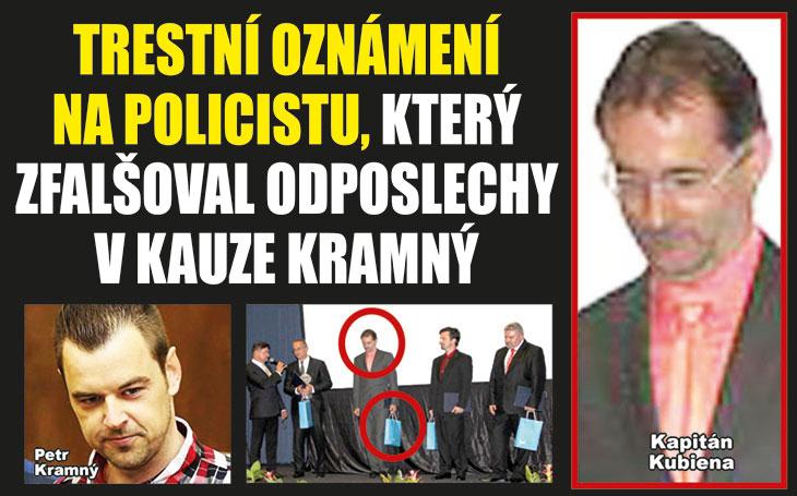 """Trestní oznámení na policistu, který """"zpackal"""" přepisy odposlechů v kauze Kramný, bude řešit GIBS"""