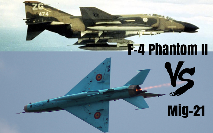 Vzdušné války - smrtící F-4 Phantom vs. hbitý MiG-21. Jak by dopadl vzájemný souboj?