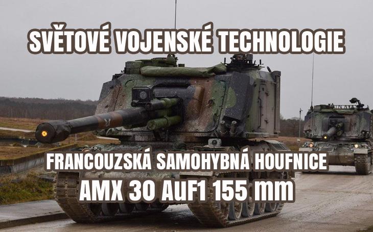 AMX 30 AuF1 – francouzská samohybná 155mm houfnice (1977-2019)