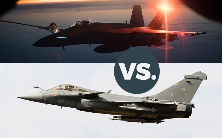 Vzdušné války - Boeing F/A-18E/F Super Hornet vs. Dassault Rafale. Jak by dopadl vzájemný souboj?