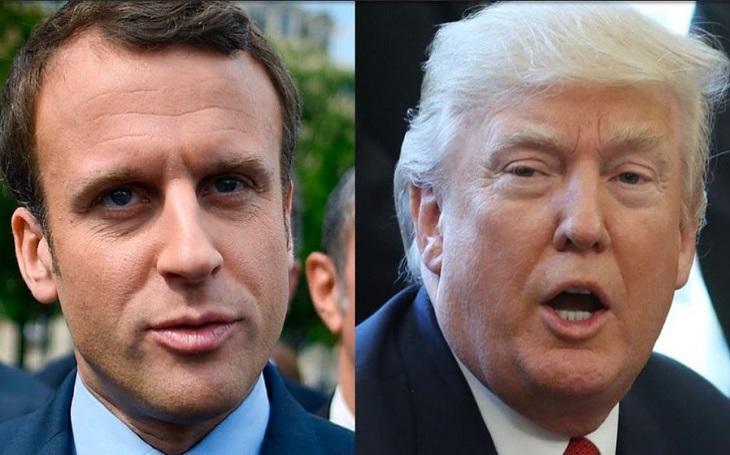 Trump se setkal s Macronem, hovoří o obraně i obchodu