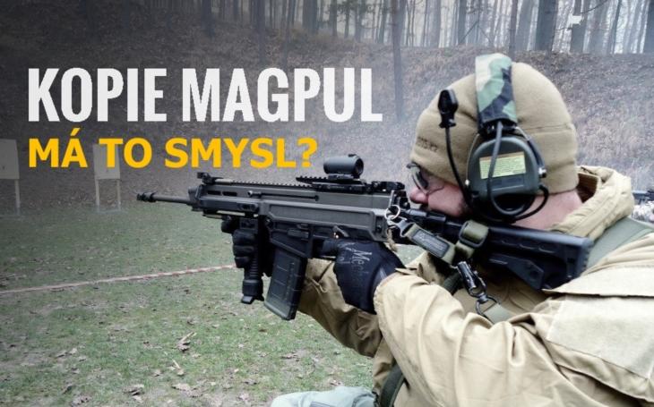 Kopie zbraňových popruhů Magpul vyrobené v Číně. Má to smysl