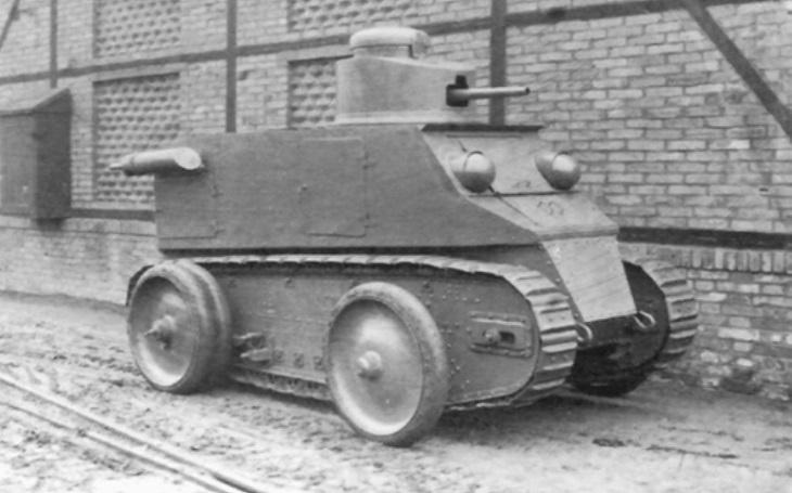 Československá Kolohousenka - první pokus o tank se úplně nepovedl