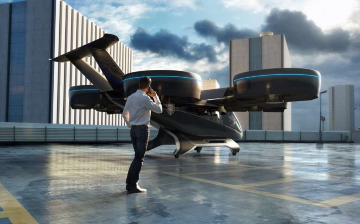 Společnost Bell na veletrhu CES 2019 představila design leteckého taxi