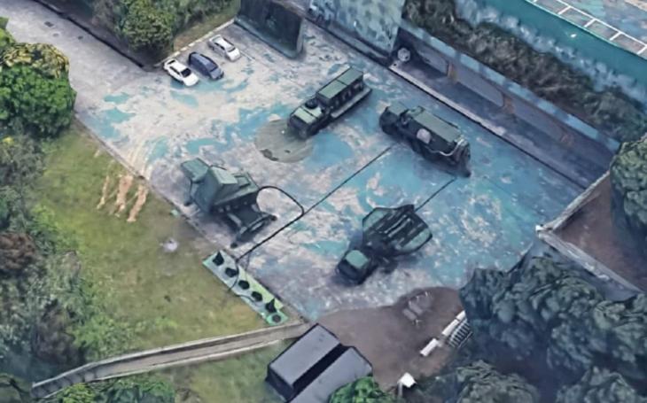 Satelitní 3D mapa odhalila baterie raket Patriot na Taiwanu