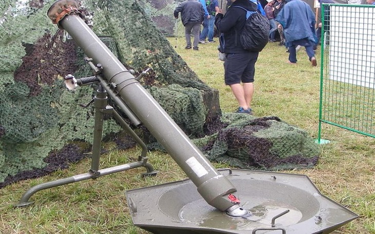 120mm minomet vz. 82 - dělostřelecká zbraň určená k umlčování živé síly a ničení krytů