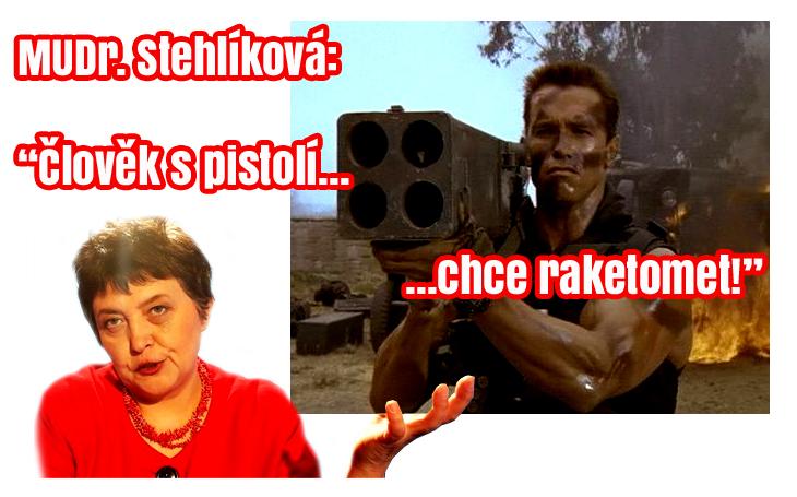 Džamila Stehlíková chce plošné psychotesty kvůli raketometům