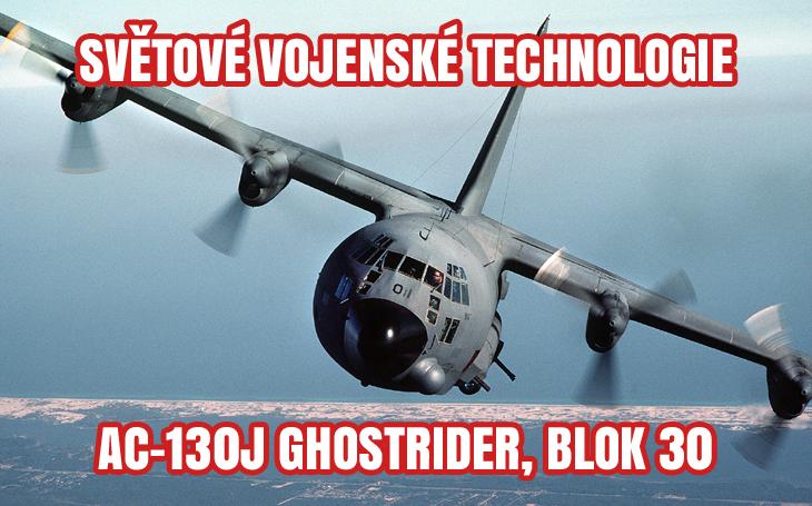 Americké letectvo dostalo první modernizovaný AC-130J Ghostrider