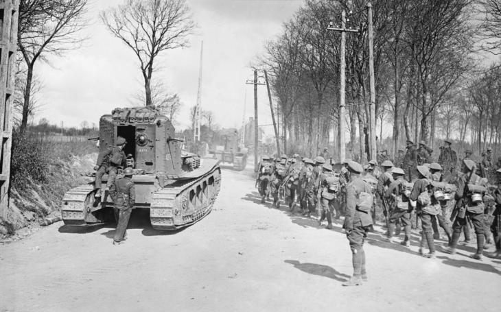 """Mark A """"Whippet"""" byl ohařem britských tankových jednotek a hrdinou bitvy u Amiensu"""