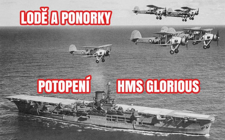HMS Glorious - děly potopená letadlová loď