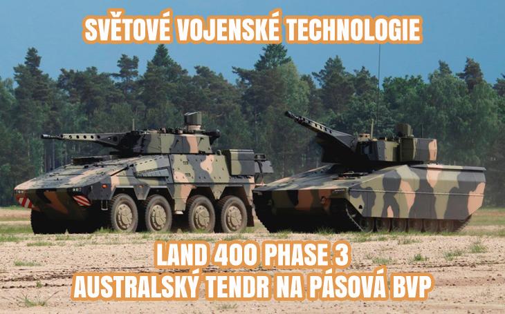 LAND 400 Phase 3 - pásová bojová vozidla pěchoty pro Austrálii (2019-2022)