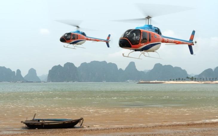 Vietnam zahájil s vrtulníky Bell 505 JRX turistické lety přes ikonickou zátoku Ha Long