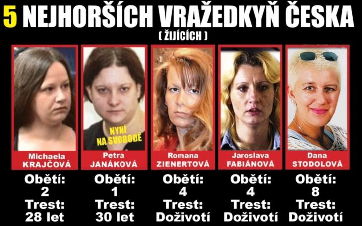 Dostala 28 let za vraždu manželů v pojízdném domku - a zařadila se mezi pět nejhorších vražedkyň v Česku. Otěhotní za mřížemi jako její &quote;kolegyně&quote; a také zmizí za kopečky?