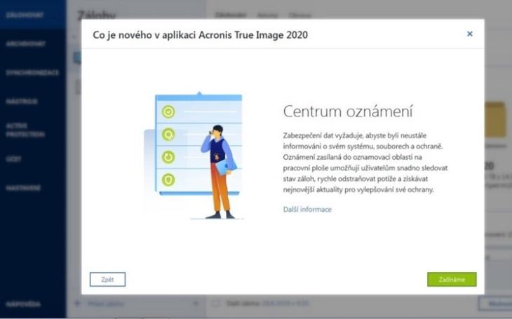 Acronis True Image 2020 automatizuje zálohy dle pravidla ,,3-2-1&quote;, jako jediné osobní zálohovací řešení replikuje lokální zálohy do cloudu