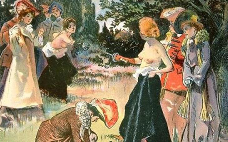 Když princezna a hraběnka bojovaly rapíry nahoře bez
