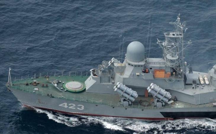 Modernizovaná ruská korveta Směrš provedla cvičné střelby v Japonském moři