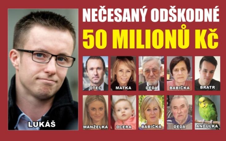 Spravedlnost byla slepá, bude i štědrá? Lukáš Nečesaný a jeho rodina chce od státu 50 milionů korun. Jeho otec dal v nemocnici výpověď, aby na to měl čas