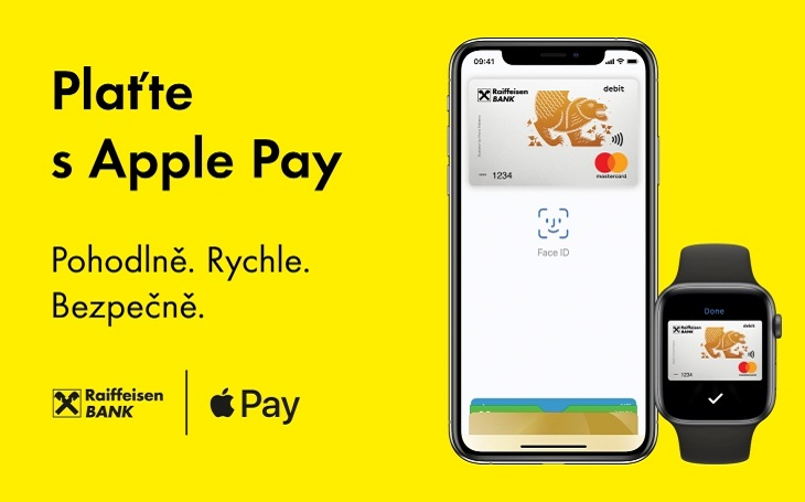 Raiffeisenbank spouští Apple Pay
