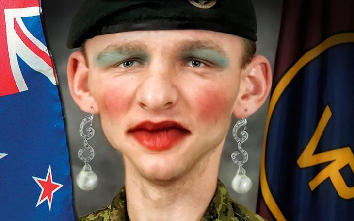 Pokroková novozélandská armáda léčí neduhy světa šminkami pro vojáky