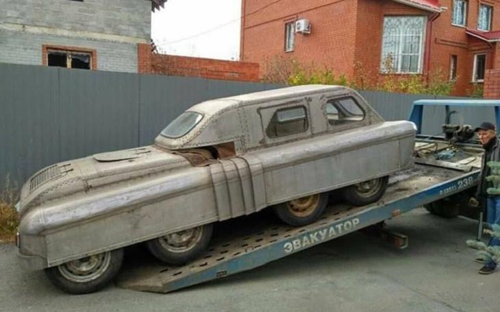 Obojživelné vozidlo z dob SSSR vypadá jako z postapokalyptického světa Fallout