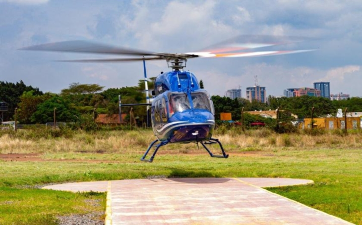 Bell 429 putoval na demo tour do Afriky