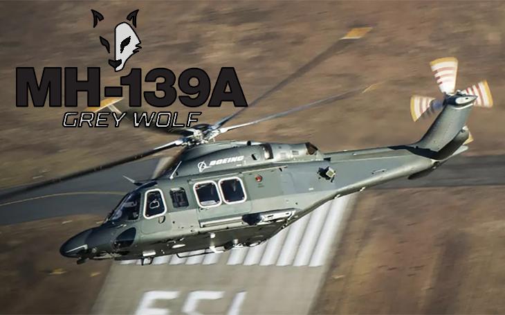 Bojové jméno pro americké vrtulníky AW139? MH-139A Grey Wolf