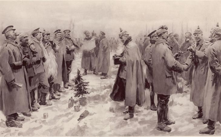Vánoční zázrak v zákopech během první světové - vojáci si podávali ruce a zpívali