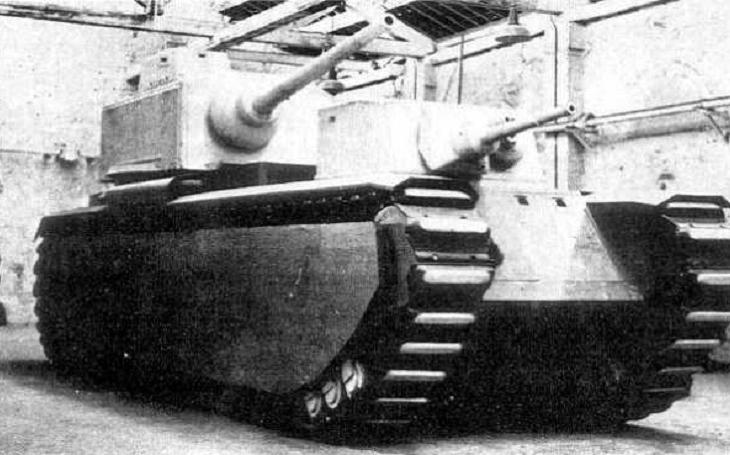 Supertěžký tank FCM F1 – 145tunový šílený sen francouzských generálů