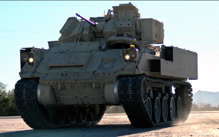 Američané testují nový podvozek pro pásová BVP M2 Bradley