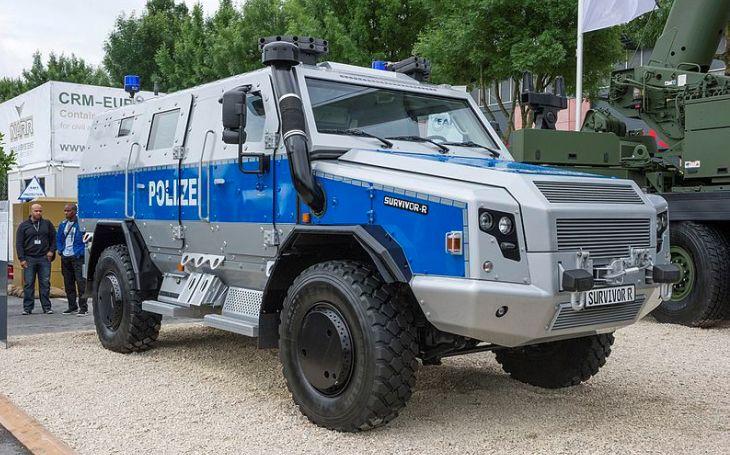 Obrněné vozidlo Rheinmetall MAN Survivor R na mezinárodním bezpečnostním veletrhu GPEC 2020 ve Frankfurtu nad Mohanem